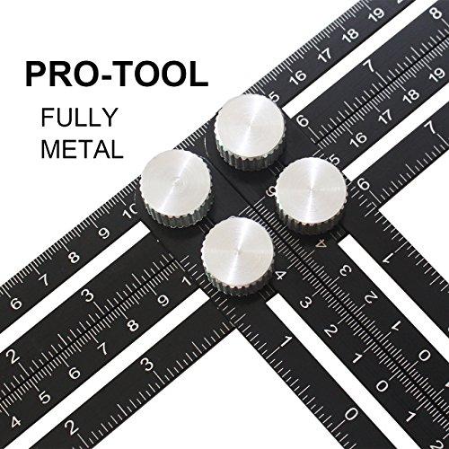 Aufgerüstetes Angleizer Template Tool, Multi-Angle Mess-Lineal für Handymen, Bauherren, Handwerker - Premium Aluminium-Legierung Material, Aus hochwertiger Aluminium-Legierung -