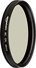 AmazonBasics Circular Polarizer Filter- 62 mm