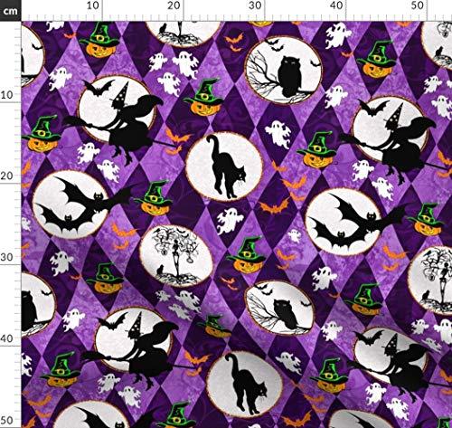 Halloween, Kinder, Quilts Stoffe - Individuell Bedruckt von Spoonflower - Design von Bags29 Gedruckt auf Baumwoll Spandex Jersey