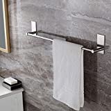 Selbstklebender Handtuchhalter gebürstetem Edelstahl Handtuchstange Ohne Bohren Bad und Küche 70cm