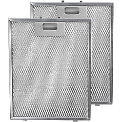 Spares2go filtre en maille métallique pour Arthur Martin hotte de cuisine/ventilateur d'extraction d'air Grille d'aération (lot de 2filtres, Argent, 300x 240mm)