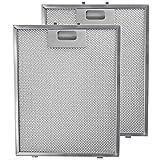 spares2go Metall Mesh Filter für Bauknecht Dunstabzugshaube/Küche Abluftventilator (2Stück Filter, silber, 300x 240mm)
