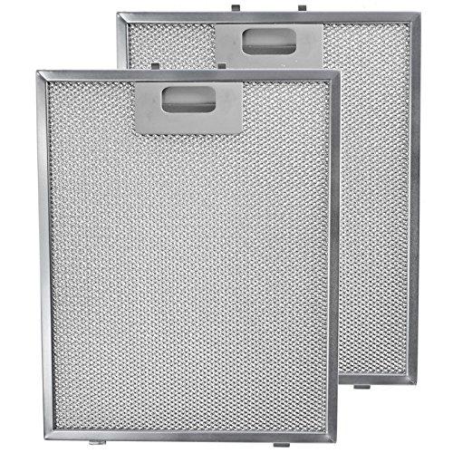 Spares2go in metallo Filtro in Maglia per cappa brandt/cucina Ventilatore di estrazione di aria griglia di aerazione (Confezione da 2filtri, Argento, 300x 240mm)