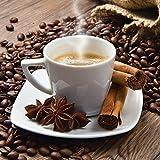 Artland Qualitätsbilder I Glasbilder Deko Glas Bilder 30 x 30 cm Ernährung Genuss Getränke Kaffee Foto Braun B2XV Tasse Leinensack Kaffeebohnen