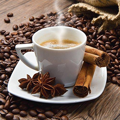 Artland Qualitätsbilder I Glasbilder Deko Glas Bilder 20 x 20 cm Ernährung Genuss Getränke Kaffee...