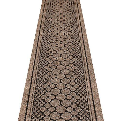 EXtreme® - Camino de pasillo antideslizante resistente en corcho marrón – hecho a medida – Camino de alta calidad para el hogar (66 x 180 cm)