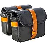 Walco Citychic Fahrradtasche für Gepäckträger – Wasserfeste Gepäckträgertasche – Packtasche in britischen Stil mit braunen Lederriemen