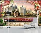 WH-PORP 3D Tapete Benutzerdefinierte 3D Wandbilder Tapete Stereoskopische Garten Landschaft Gemälde Außerhalb-300cmX210cm