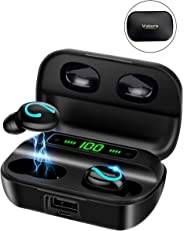 Bluetooth Earphone, Vaburs True Wireless Earbuds with Mic LED Power Display Deep Bass Stereo Sound Auto-pairing, Headphones f
