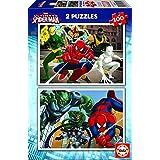 Puzzles Educa - Ultimate Spiderman, 2 puzzles x 100 piezas (15640)