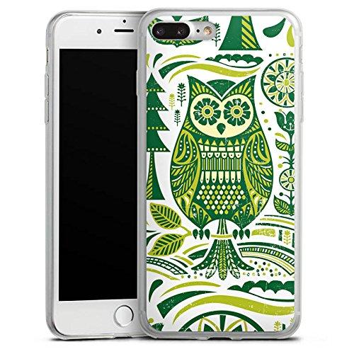 Apple iPhone X Slim Case Silikon Hülle Schutzhülle Eule Owl Uhu Silikon Slim Case transparent