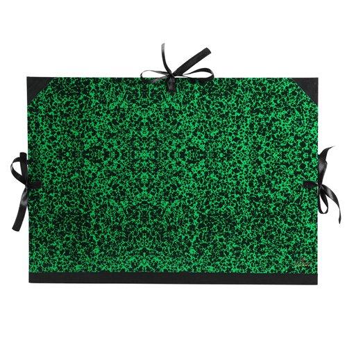 Canson 200003125 - Carpeta dibujo marmoleada verde 52x72 cm