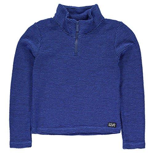 ocean-pacific-ninos-1-4-cremallera-waffle-top-junior-chicos-sudadera-ropa-vestir-bright-blue-7-8-sb