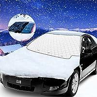 Bigmeda Auto Frontscheibe, Magnetische Scheibenabdeckung Auto Frostabdeckung Anti-Frost Windschutzscheibe Frostabdeckung Winterabdeckung Eisschutz Frontscheibe für Winter (138* 112cm)