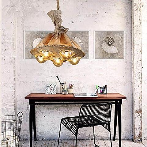 LIVY Perla corda decorativo Lampadario Lampadario vintage Cafe ristorante bar abbigliamento Memorizza personalità e lampade creativi