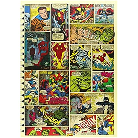 Ufficiale Marvel Comic Strip A4 rigido interno foderato torna Diario/Quaderno