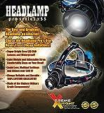 Xtreme Bright Pro X55 Headlamp, Led Stirnlampe ideal zum Joggen, Campen, Radfahren-350 Lumen LED Beleuchtung (3 Modi) 150 m Reichweite. Wasserfest & einstellbare Kopfbänder - 6