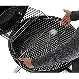 XXL Kugelgrill 57cm Durchmesser Holzkohle-Grill Smoker Standgrill mit Deckel - große Grillfläche in schwarz