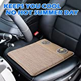 Fans Airflow Cooling Car Seat Cushion - Transport moisture away from your hip and legs - 5V USB Adjustable Temperature Cool Chair Pad - Nice Sitting for Car Seat,Office Chairs, Recliner, Wheelchair,Home, Office(Weave)