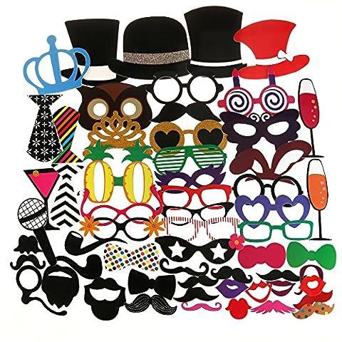 Bal Costumé Décorations - Tinksky 60pcs Adulte Photo Drôle Les Accessoires
