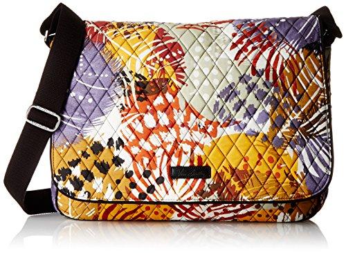 vera-bradley-laptop-messenger-bag-mehrfarbig-painted-feathers-einheitsgrosse