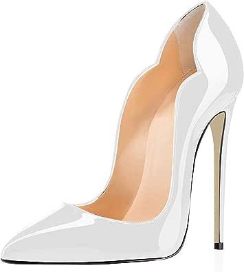 elashe- Scarpe Decolte Donna - 12CM Scarpe col Tacco Pointed Toe - Classiche Scarpe col Tacco