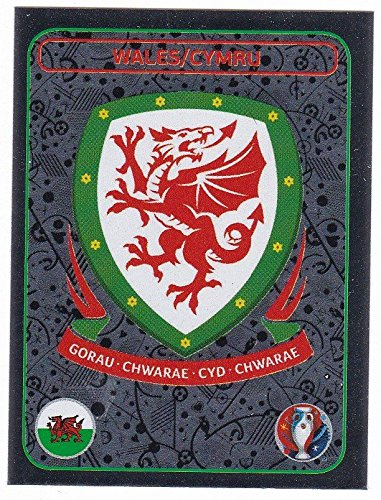 Panini EURO 2016 France - Sticker #126 (Wales, Wappen)