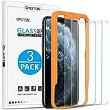 OMOTON 3 Pack Verre Trempé pour iPhone 11 Pro Max/XS Max Film Protection Ecran avec Kit Installation Offert [ 6.5 Pouces 9H Dureté, sans Bulles]