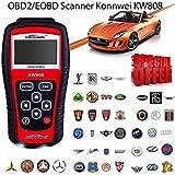 OUTAD KW808auto errore dispositivo diagnostico Scanner Tester per Auto diagnostico OBD2lettore di codice motore Ripristina veicolo