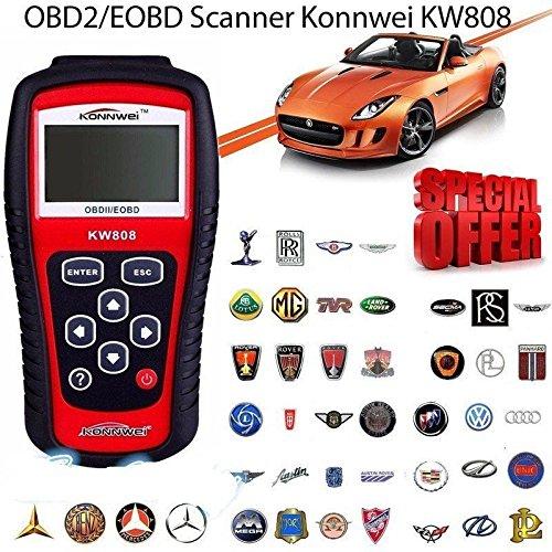 Scanner Motor-code (OUTAD KW808 Auto OBD2 Diagnosegerät Diagnose Scanner Tester für PKW Fehler Code Leser Motor Zurücksetzen Fahrzeug)