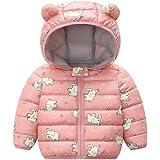 PROTAURI Chaqueta Acolchada para bebé Oreja de Invierno Abrigo con Capucha Niño Niñas Chaqueta Impermeable Ropa de Abrigo Lig