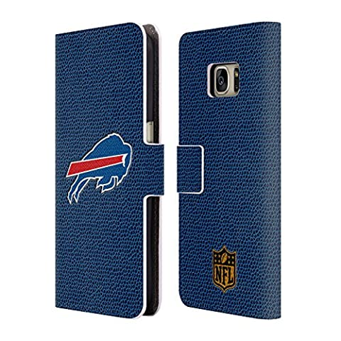 Official NFL Football Buffalo Bills Logo Leather Book Wallet Case Cover For Samsung Galaxy S7