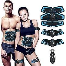 Electroestimulador Muscular Abdominales Cinturón,Ailida Masajeador Eléctrico Cinturón,Ejercitador del Cuerpo de los Músculos de Brazos y piernas para hombre o mujer