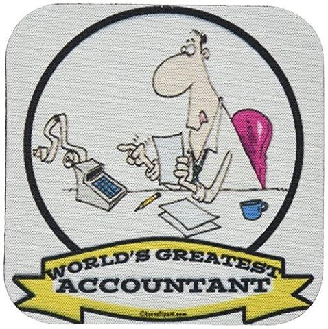Dooni Designs Worlds Greatest Cartoons–Funny Worlds Greatest Buchhalter Besatzung Tätigkeit Cartoon–Untersetzer, Gummi, (Besatzung Glas)
