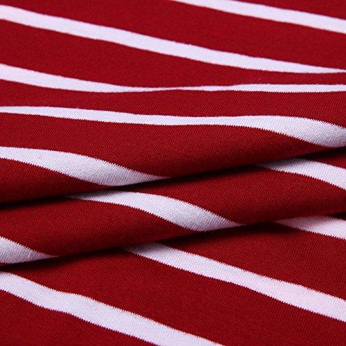La Cabina Femme Sexy Mini Robe Longue de Crayon Moulante Bodycon & Robe Confortable en Dentelle pour Quotidien Soirée Cocktail Bar Club Rouge
