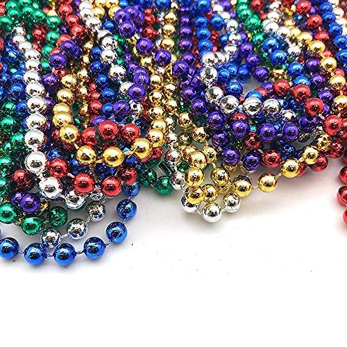 TAOtTAO 32 STÜCKE Karneval Perlen Halsketten Party Favors 8 Farben Karnevals DIY Farbperlen-Farblinie Perlmutt (Diy Kostüm Party Einladungen)