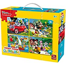 King Disney 4in1Puzzle Mickey Mouse - Puzzles (Jigsaw puzzle, Cartoons, Children, Disney, 4 year(s), Boy)