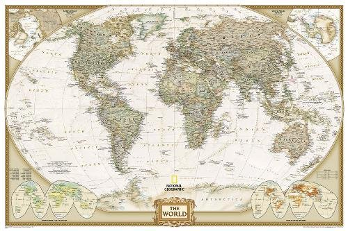 World Executive, Poster Size, Tubed: Wall Maps World (National Geographic Reference Map) por National Geographic Maps