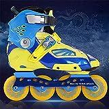 HV Rollers Garçons Adultes Fantaisie Chaussures Plates Filles Patins-Il Existe Trois Tailles: S: (36-38) M: (39-41) L: (42-44),Blue,L