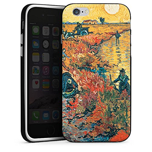Apple iPhone X Silikon Hülle Case Schutzhülle Vincent van Gogh Red Vineyards at Arles Kunst Silikon Case schwarz / weiß