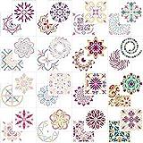 AIEX 32 Pezzi Mandala Dotting Stencil Modelli Assortiti Mandala Riutilizzabile Stencil per Pittura per pareti Fai da Te, Pietre di Roccia, mobili in Legno e Altro Ancora