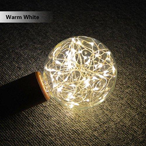 LED Leuchtmittel E27Starry Lichterkette XMAS PARTY Lampe Home Decor Size: 125X100mm gelb (Mini-laternen Bulk)