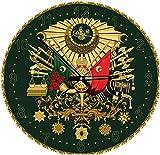 Heidi heidi4138die Ottoman amblem Kunst Puzzle Uhr mit Golden Glitzer (570-piece)
