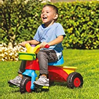 My First Ride Trike Kids Childrens Multi-Coloured Outdoor Pedal Bike with Horn
