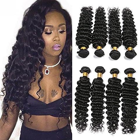 Silkylong brazilian deep wave hair 4 bundles virgin hair human