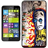 SAD graffiti Boy con occhi blu dipinto a parete rigida custodia cover per Nokia Lumia 1320