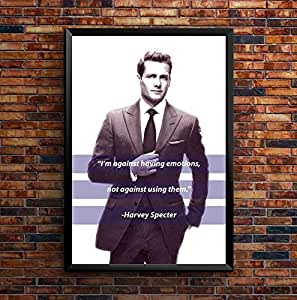 Speaking Walls Harvey Specter Quote Poster - (Unframed A4)
