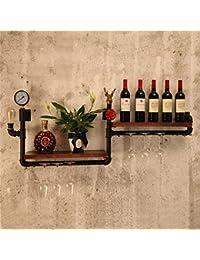 HQQ Loft de Montaje en Pared Wine Rack para Bar/Kitchen Suspensión de Madera Wine