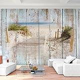 Papel Pintado Fotográfico Aspecto de madera de la playa 352 x 250 cm Tipo Fleece no-trenzado Salón Dormitorio Despacho Pasillo Decoración murales decoración de paredes moderna - 100% FABRICADO EN ALEMANIA - 9111011a