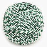 Cocina hilo verde/blanco 200m, hilos de cocina embutido de fibra sintética